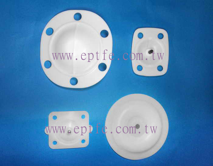PTFE diaphragm for pump or valve